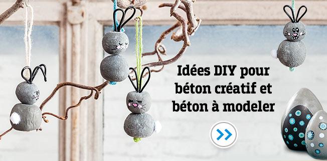Idées DIY pour béton créatif et béton à modeler