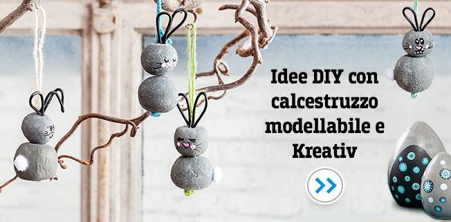 Idee DIY con calcestruzzo modellabile e Kreativ