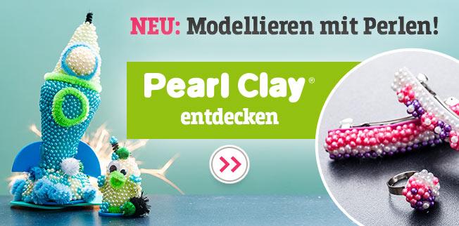 Mit dem NEUEN Pearl Clay® Objekte aus Perlen modellieren!