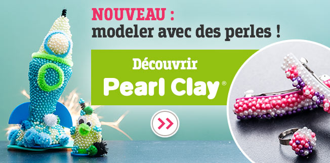 Avec Pearl Clay®, modelez des objets avec des perles !