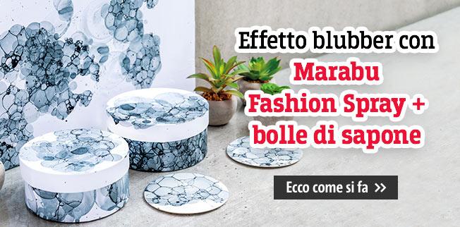 Effetto blubber con Marabu Fashion Spray e bolle di sapone