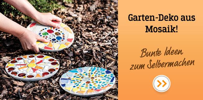 Garten-Deko aus Mosaik! Bunte Ideen zum Selbermachen