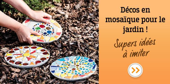 Décos en mosaïque pour le jardin ! Supers idées à imiter