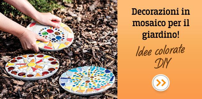 Decorazioni in mosaico per il giardino! Idee colorate DIY