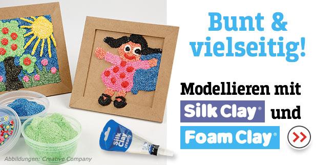 Bunt & vielseitig! Modellieren mit Silk Clay® & Foam Clay®