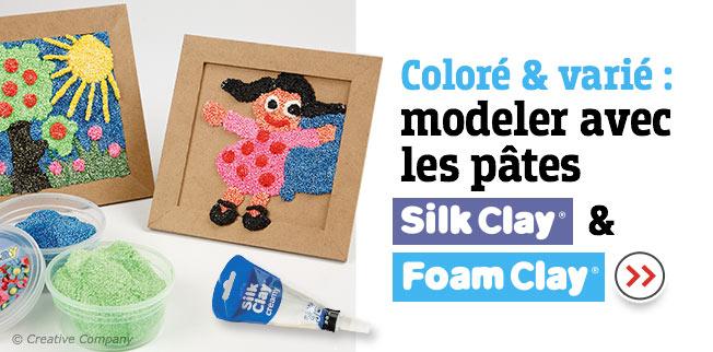 Multicolore & multi-usages. Modeler avec les pâtes Silk Clay® & Foam Clay®