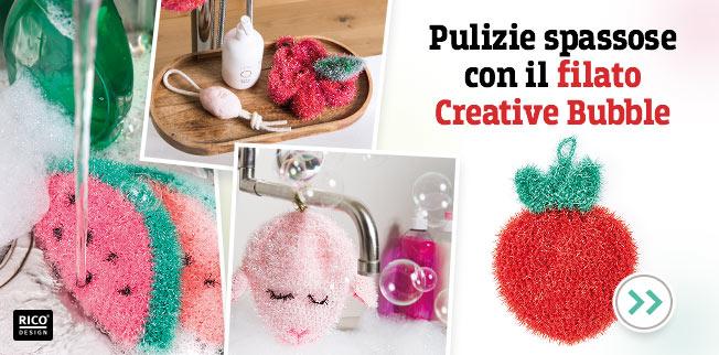 Pulizie spassose con il filato Creative Bubble