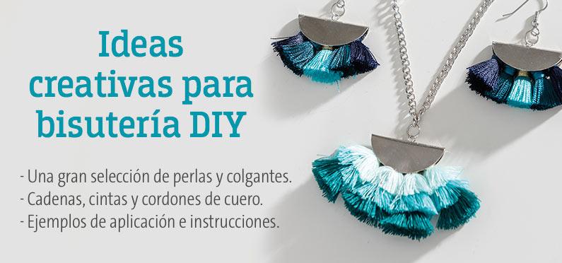Ideas creativas para bisutería DIY - Una gran selección de perlas y colgantes -  Cadenas, cintas y cordones de cuero - Ejemplos de aplicación e instrucciones.