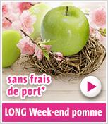 Long Week-end pomme - Livraison offerte