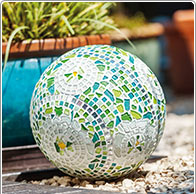 Gartenkugel Mosaik