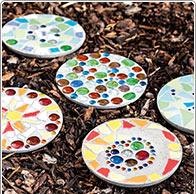 Mosaik-Gartenplatten