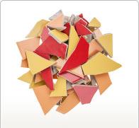 Keramiek/porselein-mozaïek & natuursteen