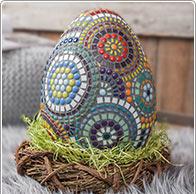 Detaillierte Anleitung Mosaik-Ei
