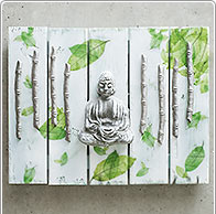 Wanddeko Wellness-Oase mit Buddha