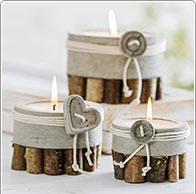 Beton-Kerzen