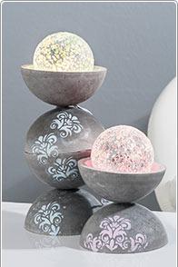 Dekorative Tischlampen aus Beton