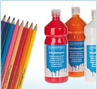 marque OPITEC - peinture pour l'école et des crayons de couleur