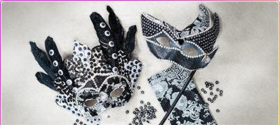 Masken für Fasching