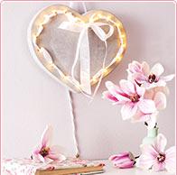 Corazón luminoso hormigón