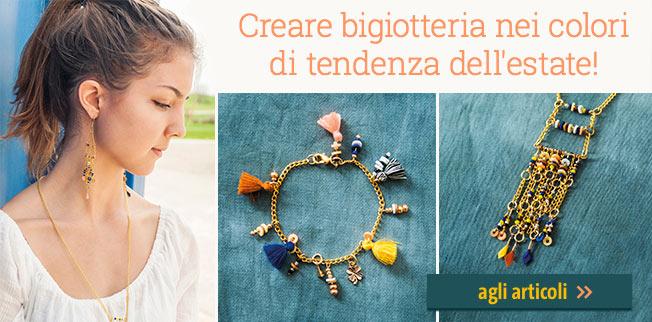 Creare bigiotteria nei colori di tendenza dell'estate! Made by me - Let`s make lovely jewellery!