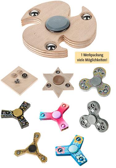 Werkpackung OPITEC Spinner Holz