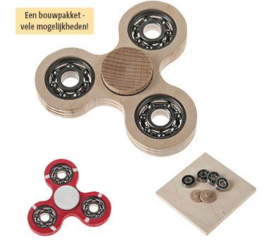 Bouwpakket OPITEC houten spinner