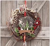 Fant sticas ideas decorativas para adviento y navidad - Corone natalizie da appendere alla porta ...