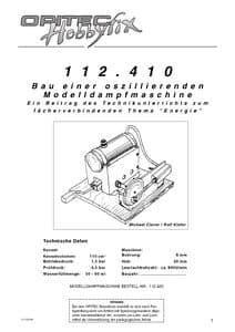 Stoommachine, uitgebreide handleiding