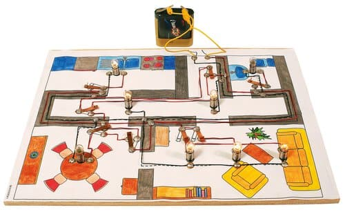 installation lectrique de la maison la pi ce opitec. Black Bedroom Furniture Sets. Home Design Ideas