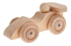 Houten racewagen