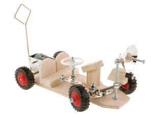 Coche lunar, motor de muelle de tracción trasera