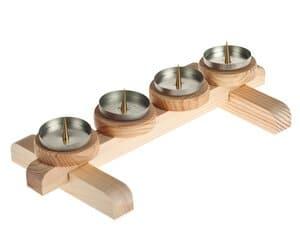 Bouwpakket houten kaarsenhouder voor stompkaarsen