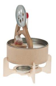 Werkend model heteluchtmotor (Stirlingmotor)