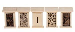 Insektenhotel mit Füllung, 5er Set (5 Häuser)