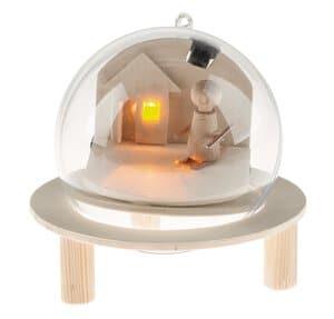 Acrylleuchtkugel mit Candle-Light