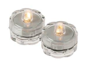 LED-drijvende theelichtjes, 2 stuks