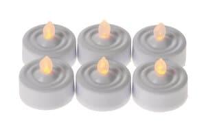 LED theelichtjes - flikkerend, 6 stuks