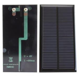 Zonnecel 6V, gegoten 6150 mA - 6,0 V (120 x 65 mm)