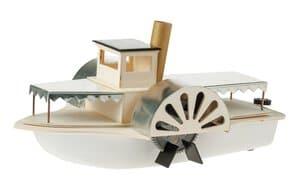 Raderstoomboot met solaraandrijving