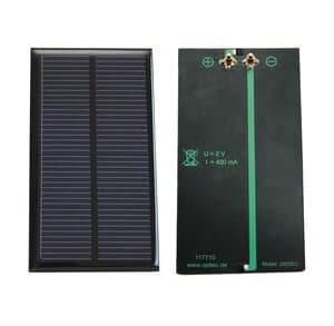 Zonnecel met klem-aansluiting, 2V - 400 mA