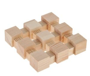Easy-Line onderzetter van houten blokken