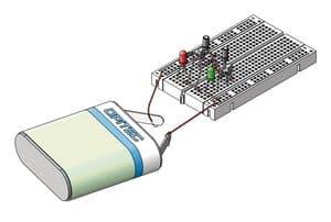 17 Elektronik Grundversuche mit Breadboard