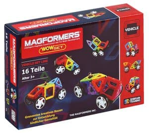 MAGFORMERS WOW SET Magnet Auto, 16-teilig