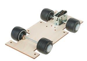 Fahrzeuggrundplatte mit Federwerkmotor«