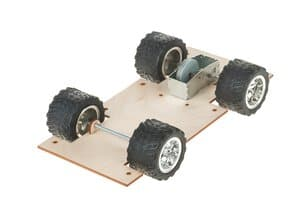 Fahrzeuggrundplatte mit Schwungmotor, 1 Stück