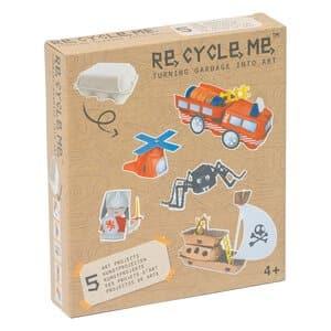RE-CYCLE-ME knutselpakket - kleine & grote helden