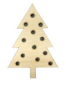 Soldeer bouwpakket dennenboom met LED's en USB