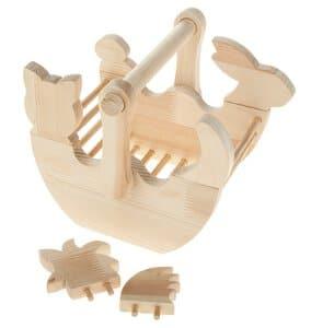 Bouwpakket - massief houten mand