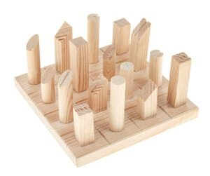 Bouwpakket - massief houten tactiel bordspel