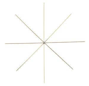 Etoiles en fil de fer, Epai..., 15 cm (ø)